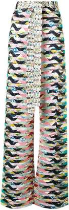 Missoni geometric knitted trousers