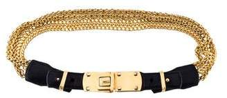 Donna Karan Leather Chain-Link Belt