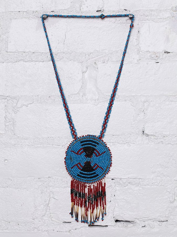 Free People Vintage Beaded Necklace