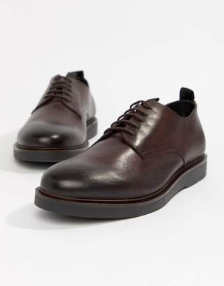 H By Hudson Barnstable derby shoes in red leather