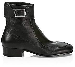 Saint Laurent Women's Miles Aged Leather Booties