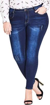 City Chic Jean Harley Distressed Skinny Jeans