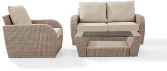 Highland Dunes Boomer 3 Piece Sofa Set with Cushions
