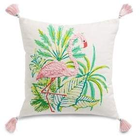 Martha Stewart Flamingo Square Cotton Cushion