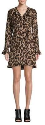 SFW Leopard Print Wrap Dress