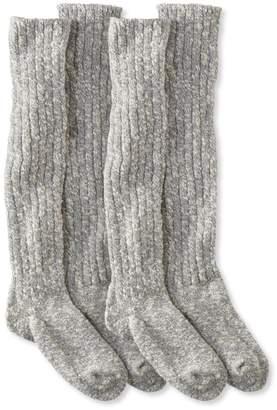 L.L. Bean L.L.Bean Women's Cotton Ragg Boot Socks, Knee-High Two-Pack