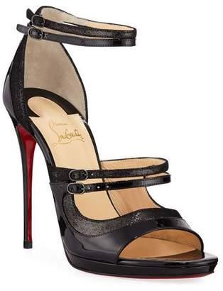 9e45d0a98e07 Christian Louboutin Sotto Sopra Patent Red Sole Sandal
