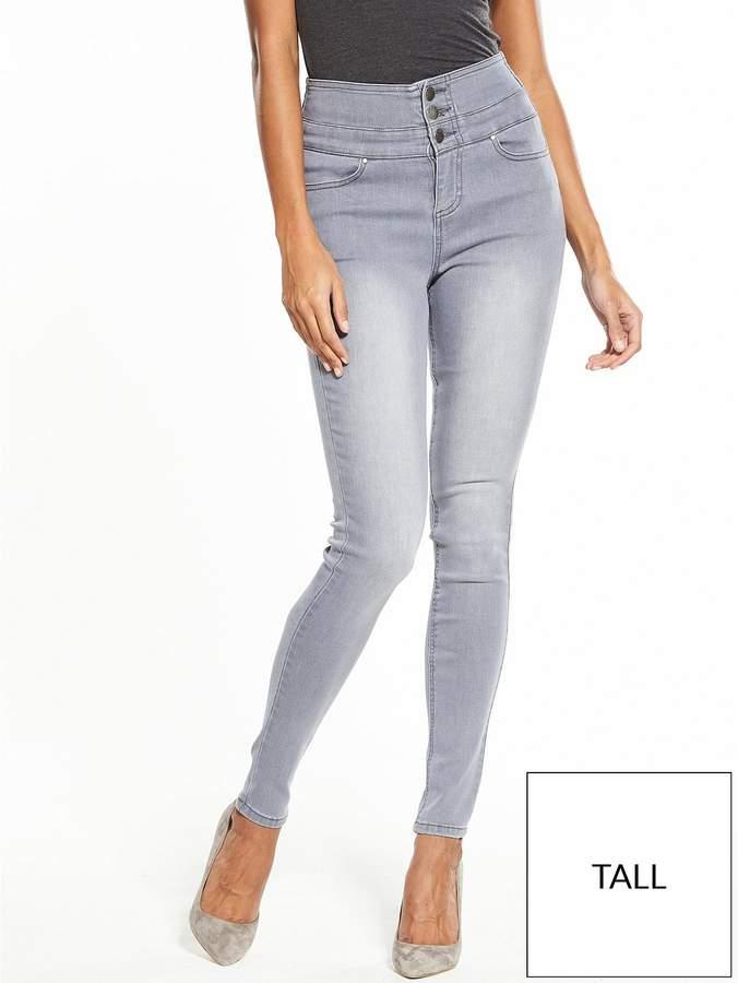 Tall Macy High Waisted Skinny Jean - Soft Grey