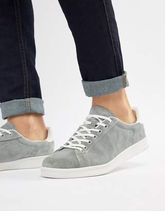 Pull&Bear Suede Sneaker In Gray