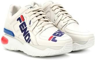 Fendi MANIA leather sneakers
