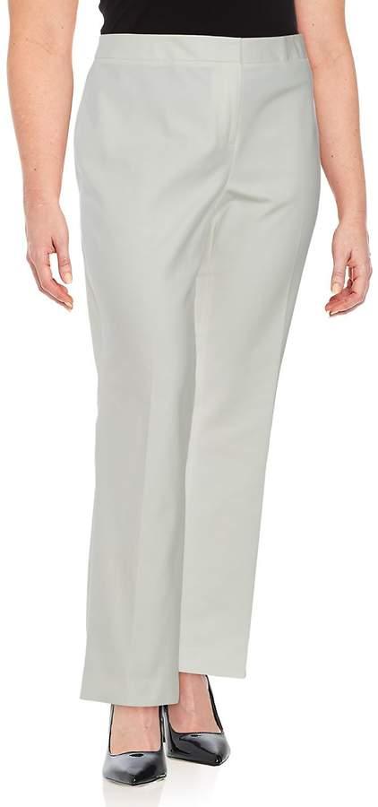 Vince Camuto, Plus Size Women's Solid Cotton Trousers