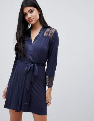 Ted Baker Signature Lace & Jersey Robe