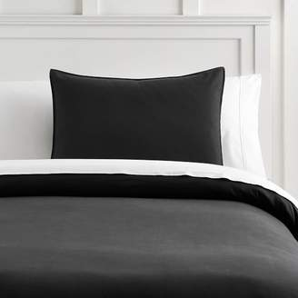 Pottery Barn Teen Classic Comfort Organic Twill Duvet Cover, Full/Queen, Charcoal Black