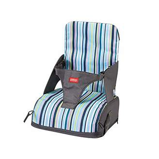 Minene Booster Seat Cushion Sturdy Dismountable Adjustable Harness Baby Toddler Infant Cushion Dining Chair On The Go Booster Seat Bag Travel Storage Chair Denim