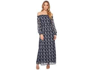 Taylor Smock Neck Chiffon Maxi Women's Dress
