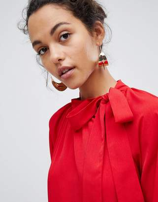 Vila Bow Detail Smock Dress