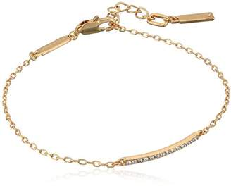 Kenneth Cole New York Women's Gold Tone Bar Anklet, Crystal, One Size