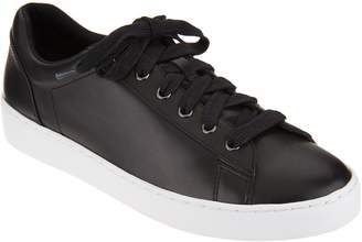 Vionic Orthotic Leather Lace-up Sneakers - Syra
