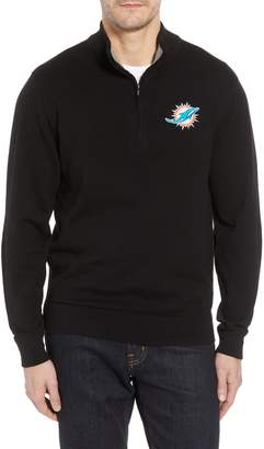 Cutter & Buck Miami Dolphins - Lakemont Regular Fit Quarter Zip Sweater