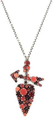 Konplott Women's Necklace with Pendant You Missed It Brass Glass 90 cm – Red 5450543472010