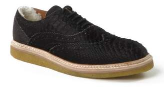 Australia Luxe Collective Lord Crocodile Embossed Leather Genuine Shearling Lined Oxford