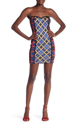 Wow Couture Sleeveless Checkered Bandage Dress