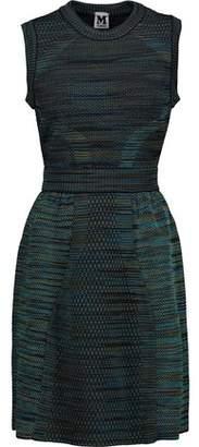 M Missoni Flared Textured Stretch-Knit Mini Dress