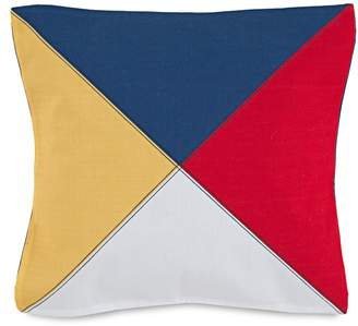 "Southern Tide Windward 18"" Nautical Flag Decorative Pillow"