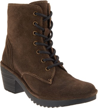 Fly London Suede Lace-up Mid Boots - Woke