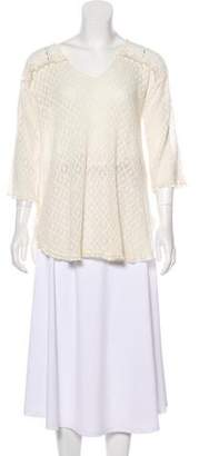 Calypso Lace-Trimmed Knit Top