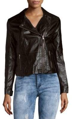 C&C California Faux Leather Moto Jacket