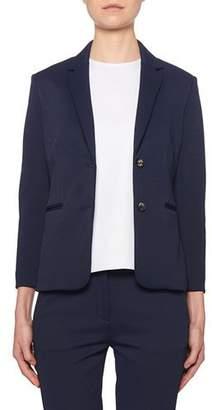 The Row Montia Jersey Two-Button Blazer