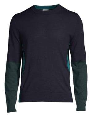 Paul Smith Colorblock Wool& Silk Henley Sweater