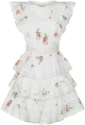 Zimmermann Heathers Tiered Ruffle Mini Dress