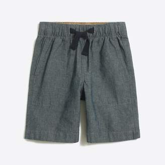 J.Crew Factory Boys' pull-on short in chambray