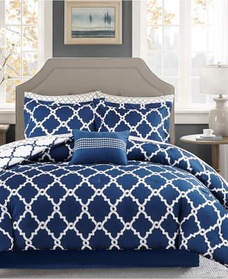 Madison Park Essentials Merritt Reversible 9-Pc. California King Comforter Set Bedding
