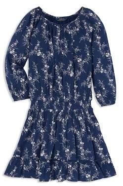Ralph Lauren Girls' Floral Gauze Dress - Little Kid