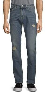 Calvin Klein Jeans Slim-Fit Distressed Stretch Jeans