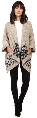 Christin Michaels Natallia Cable Knit Aztec Poncho $104 thestylecure.com