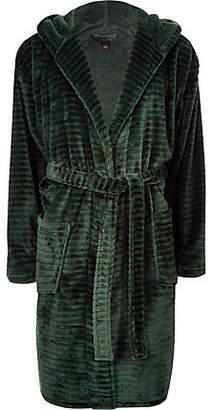 River Island Green 'R96' fleece dressing gown