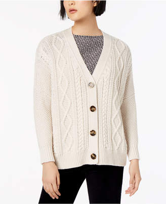 Max Mara Dover Wool Cable-Knit Cardigan