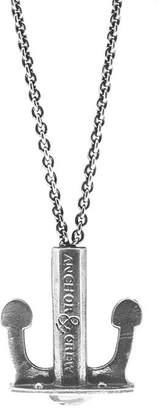 Anchor And Crew Union Silver Anchor Necklace Pendant