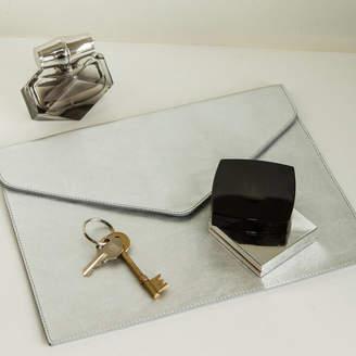 Noble Macmillan Silver Envelope Clutch
