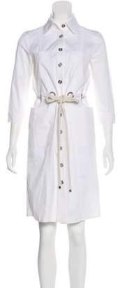Burberry Long Sleeve Knee-Length Dress