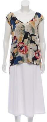 Elizabeth and James Asymmetrical Printed Top