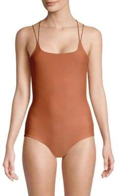 Mikoh Kilauea One-Piece Strappy Back Swimsuit