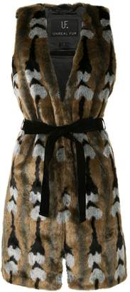 Unreal Fur faux fur Reflections Vest