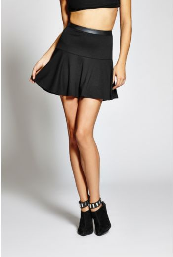 GUESS Ponte Fit-And-Flare Skirt