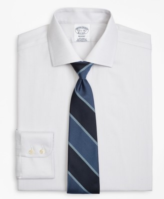 Brooks Brothers Regent Fitted Dress Shirt, Non-Iron Herringbone