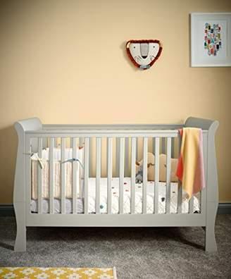Mamas and Papas Mia Sleigh Cot and Toddler Bed Pebble, Grey